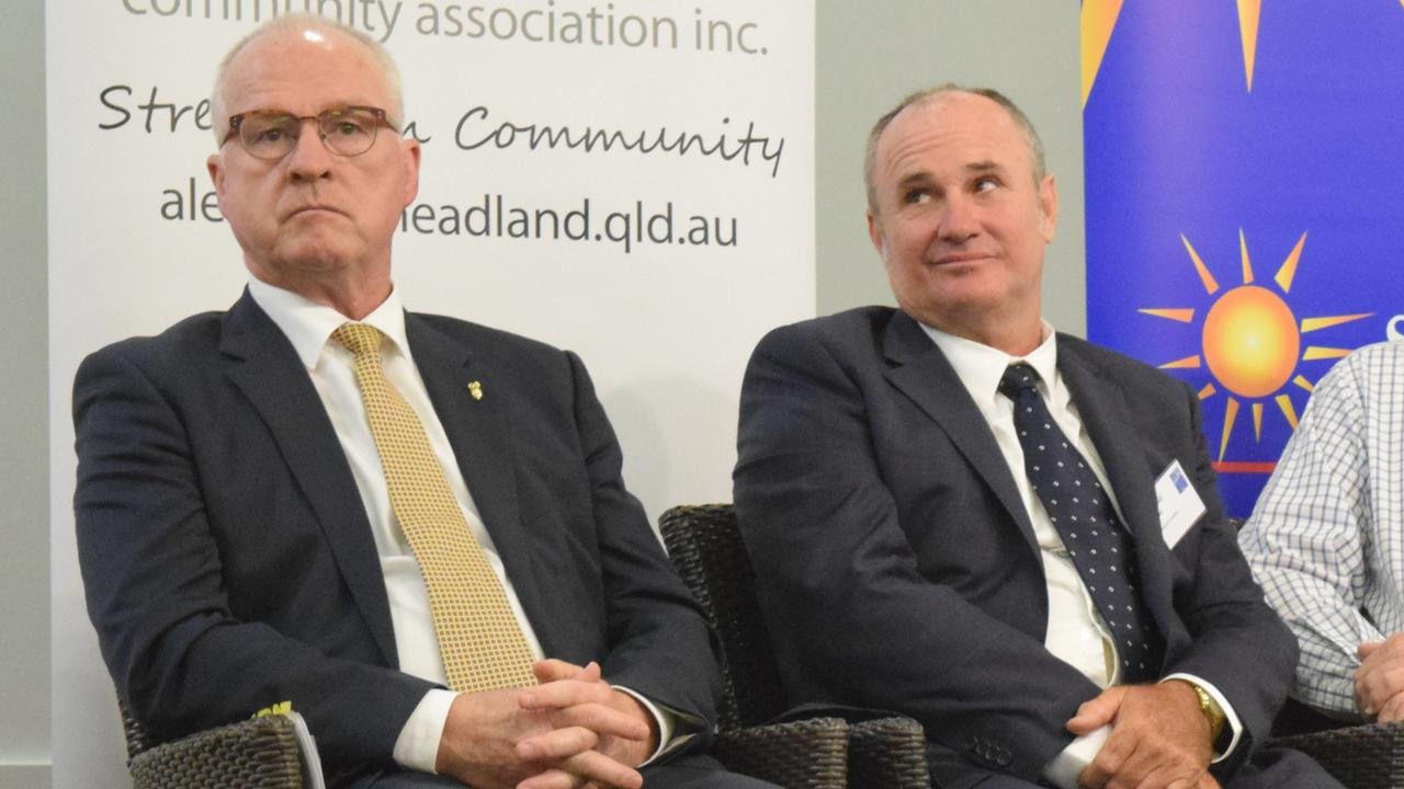 Mayoral candidates Mark Jamieson and Don Innes take part in a Sunshine Coast Daily forum in the lead up to the March Sunshine Coast Council election. Picture: Stuart Cumming
