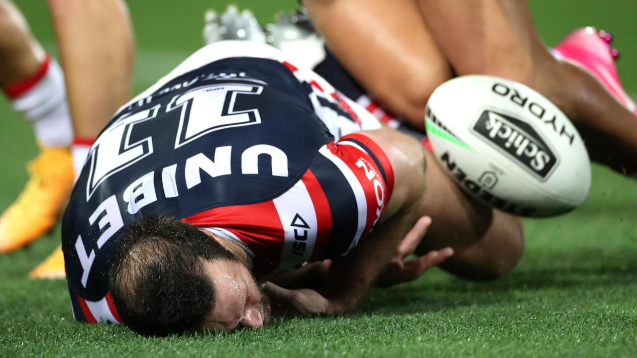 Boyd Cordner has suffered four head knocks this season. Picture: Phil Hillyard