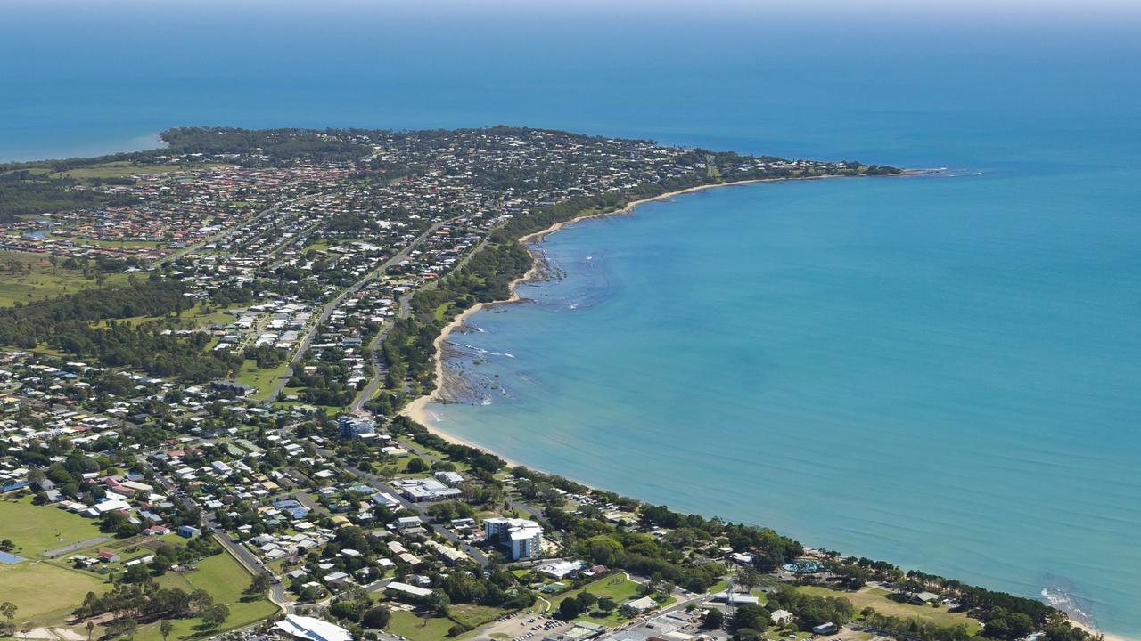 Aerial view of Hervey Bay.
