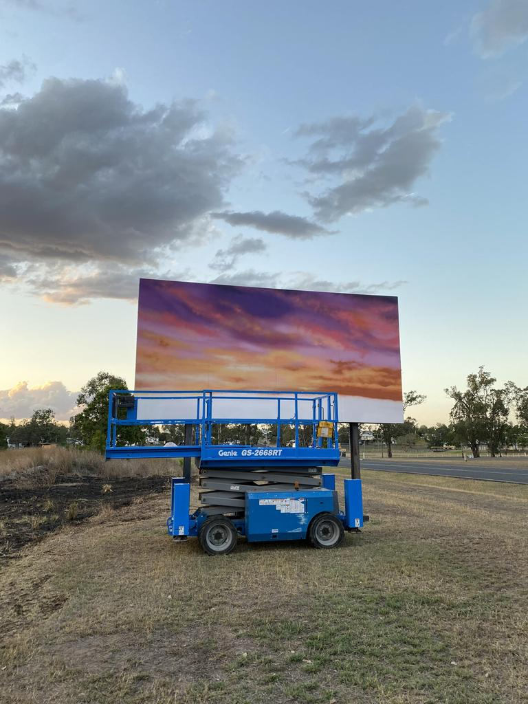 The Monto art trail continues with a welcoming sunset. Photo/DRAPL Art