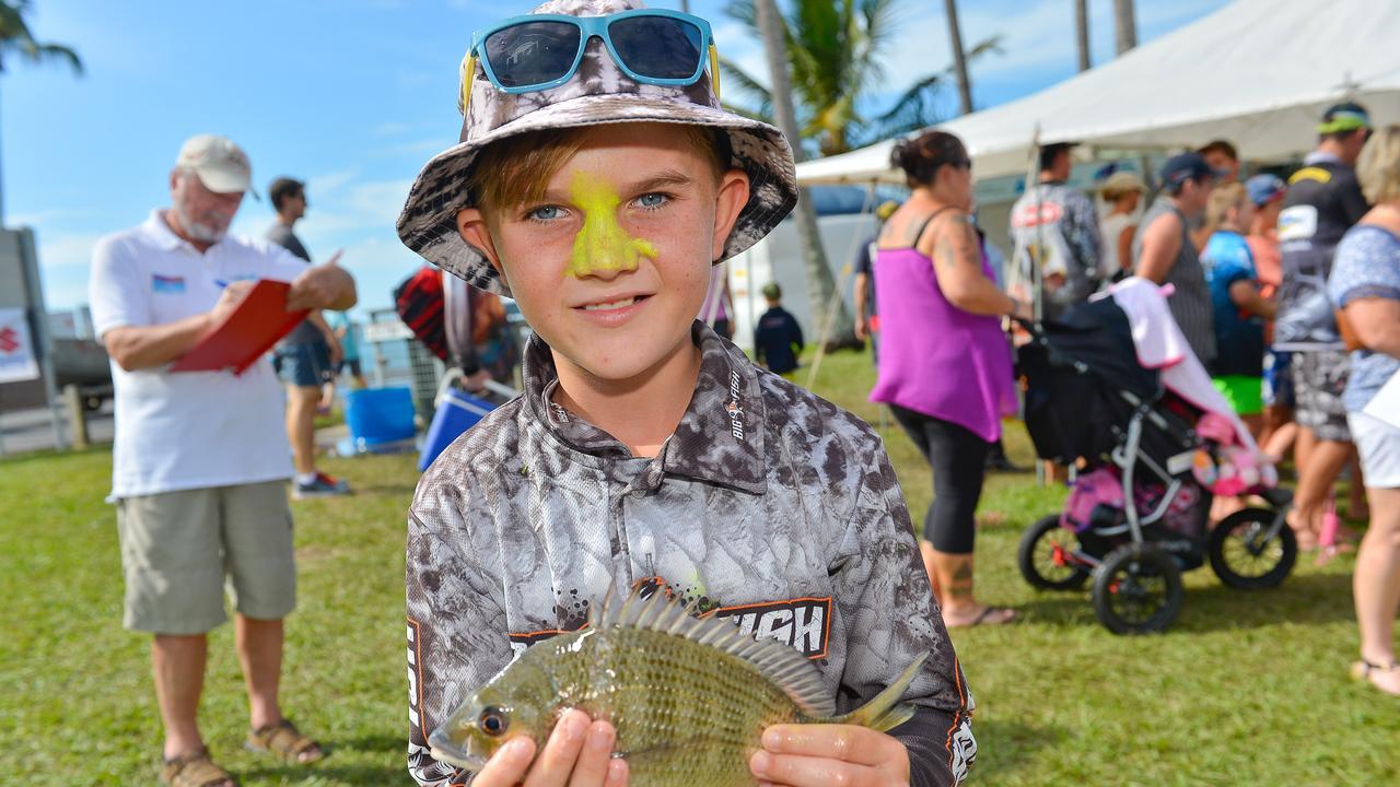 Jack Shepherd, 10, at the Boyne Tannum HookUp 2016. Photo Mike Richards / The Observer