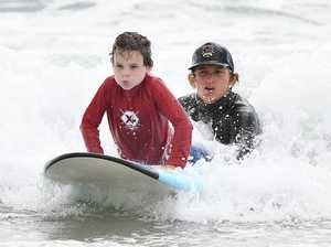 Robbie Sherwell's learn to surf at Alexandra Headland