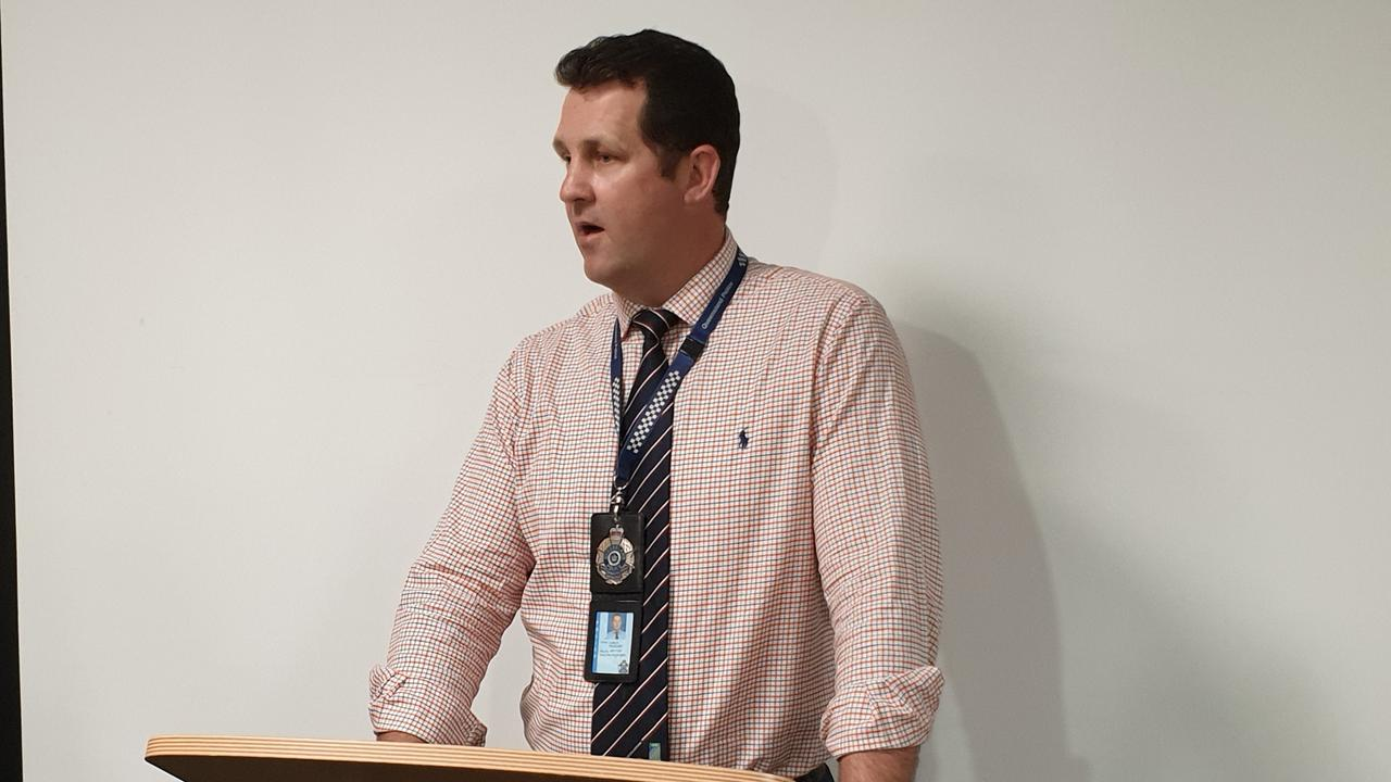 Detective Senior Sergeant Luke Peachey appeals for public assistance in relation to the stolen firearms.