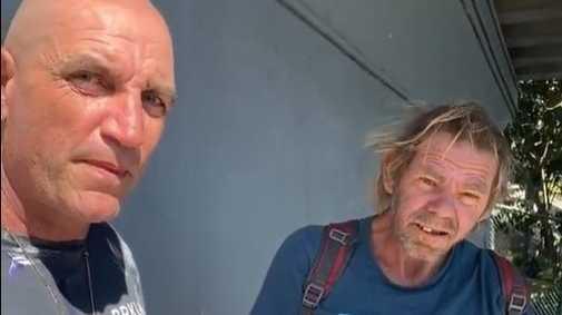 Homeless man says his belongings were dumped