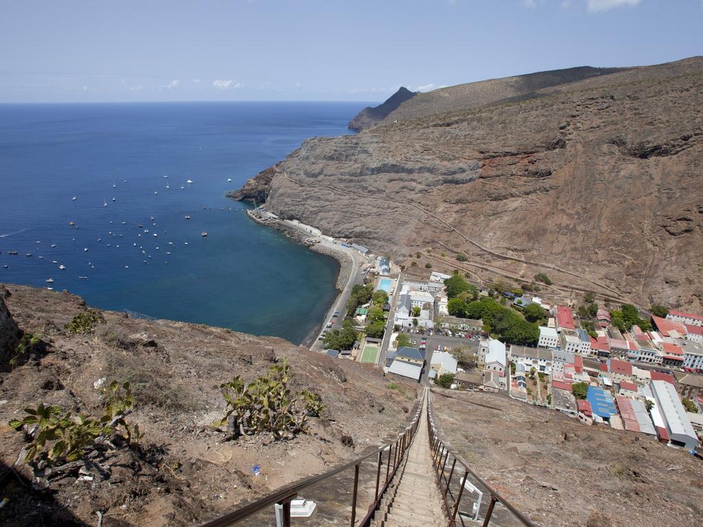 Jamestown, the capital of Saint Helena Island. British Home Office officials were asked to explore building asylum processing centres on Saint Helena Island. Picture: Supplied