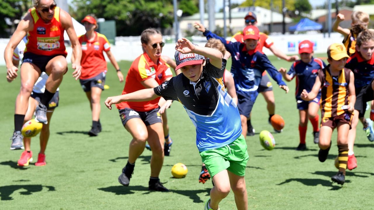 AFL was the only sport category in the Mackay Isaac Whitsundays to receive less than the state average in sports grant funding. Picture: Tony Martin
