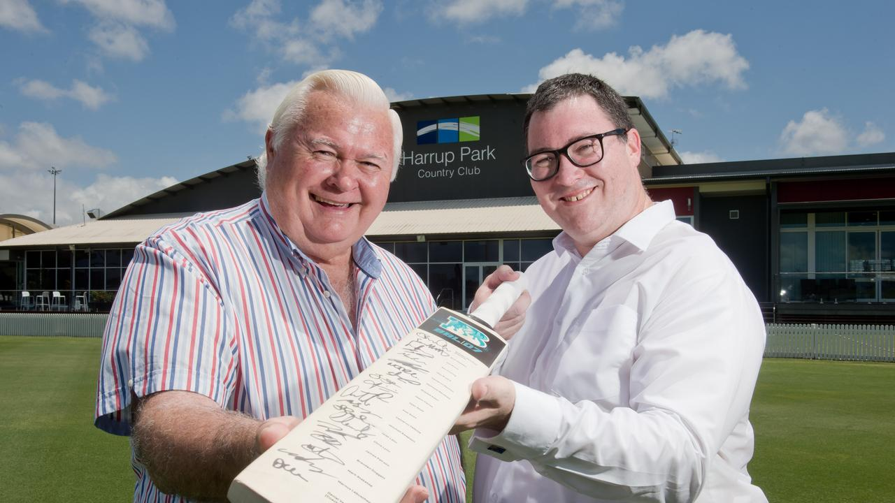From left: Terry Doolan, Harrup Park Country Club chairman, and George Christensen, Federal MP for Dawson.