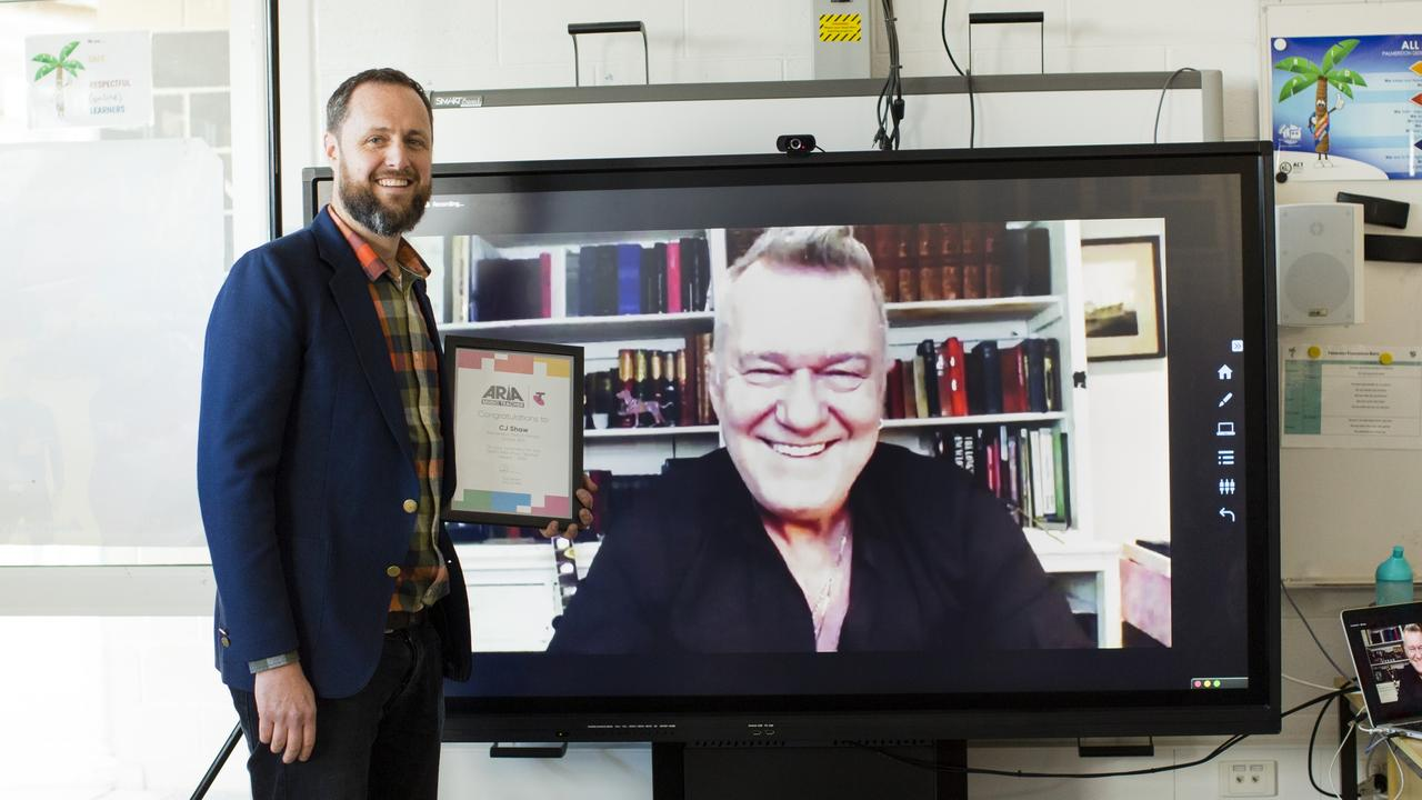 C.J. Shaw was surprised by Jimmy Barnes with his 2020 Telstra ARIA Music Teacher nomination.