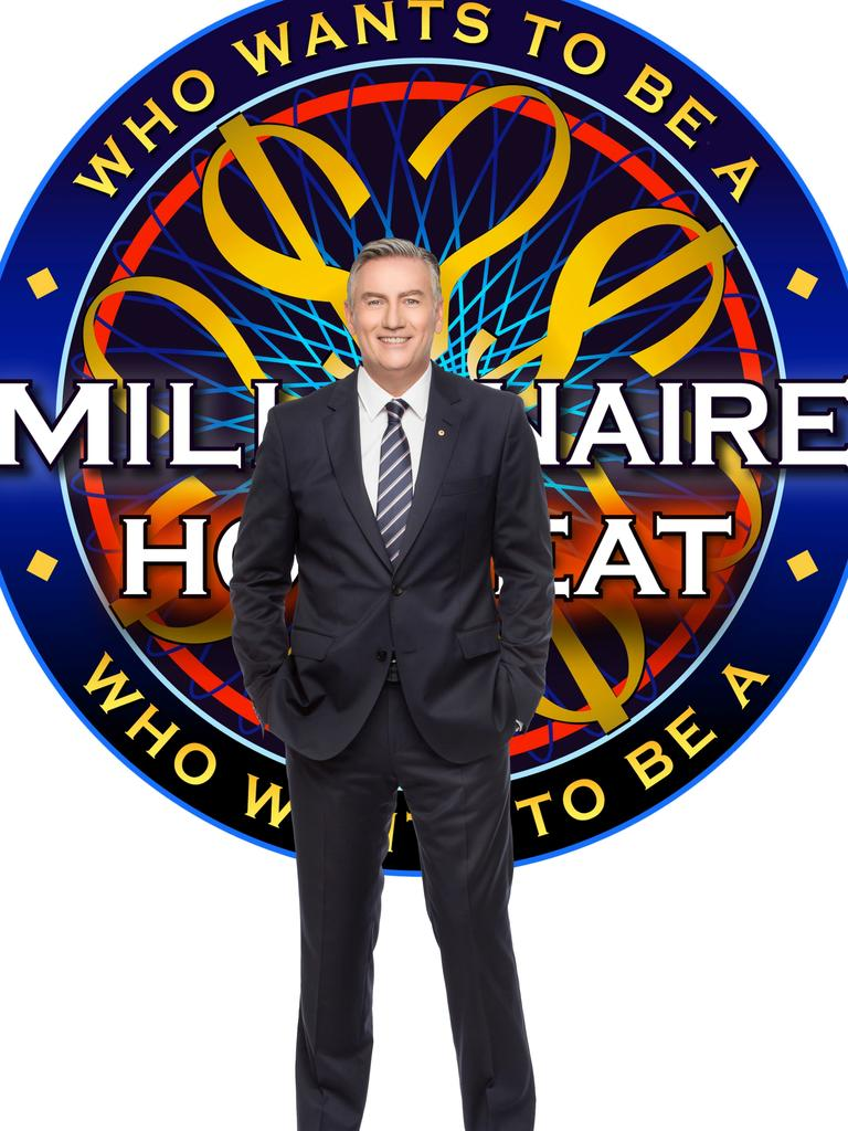 Host Eddie McGuire on the set of Millionaire Hot Seat. Picture: Nine Network