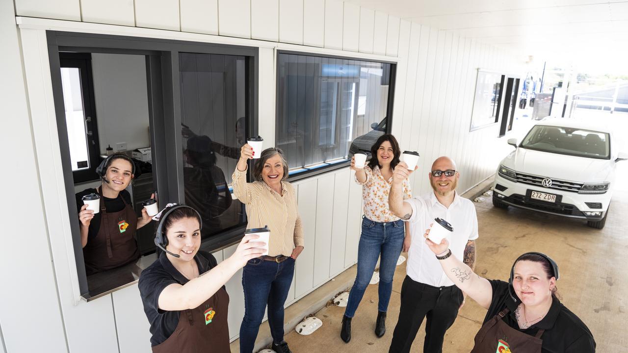 The Hop Thru Cafe team are (from left) Yasmine Kratzman, Sarah Gomez, Carmel Tulloch, Innez Tulloch, Adam Archer and Sarah Voller.