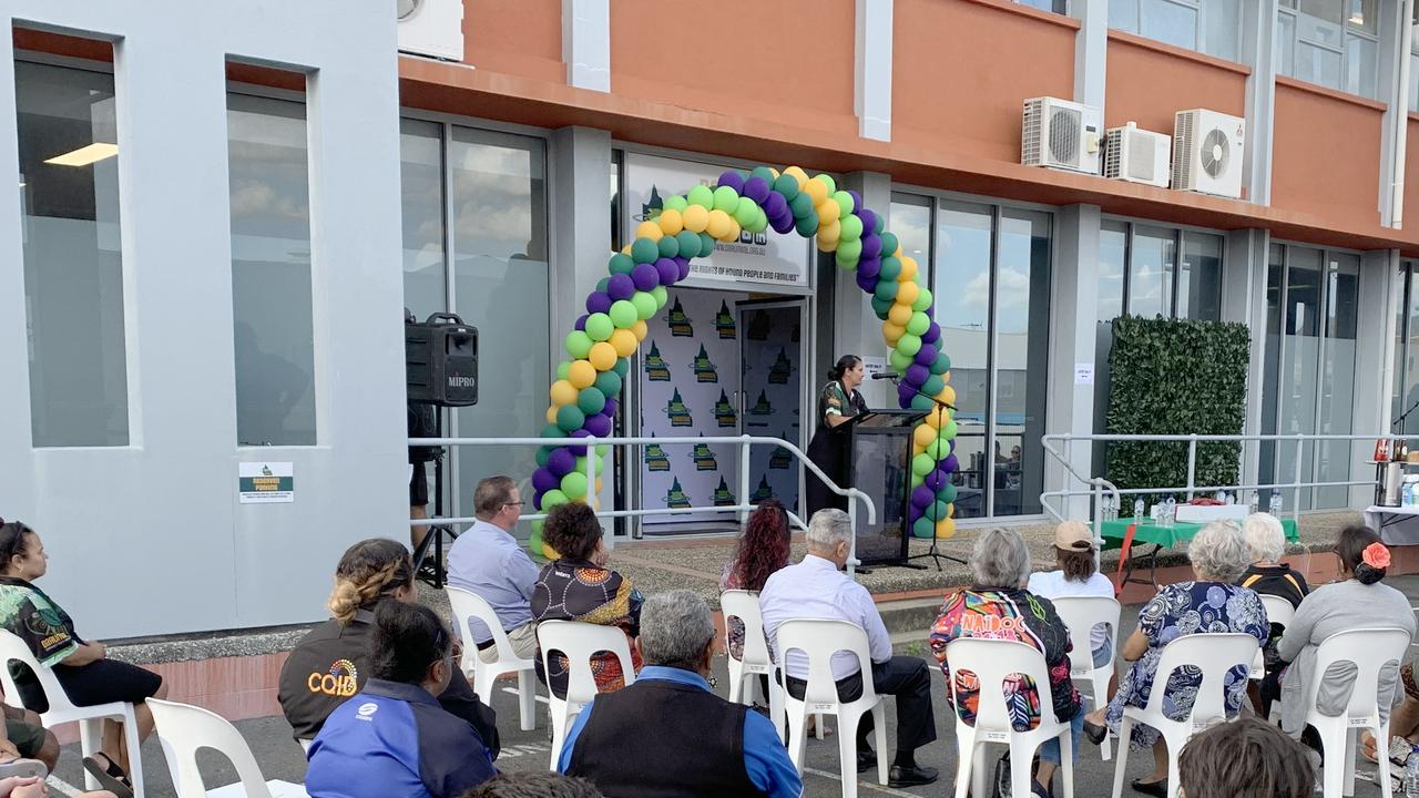 The opening of Darumbal Community Youth Services' new headquarters in Rockhampton