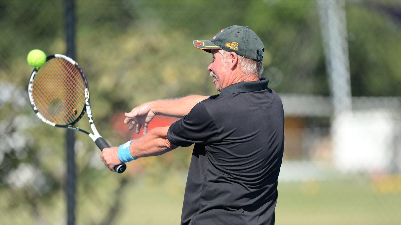 Jeff Shillam is a talented tennis player. Photo Allan Reinikka / The Morning Bulletin