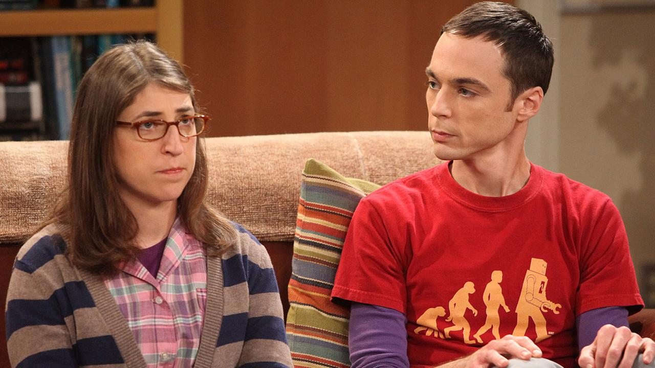 Jim Parsons and Mayim Bialik in The Big Bang Theory. Picture: Richard Cartwright/CBS via Getty Images
