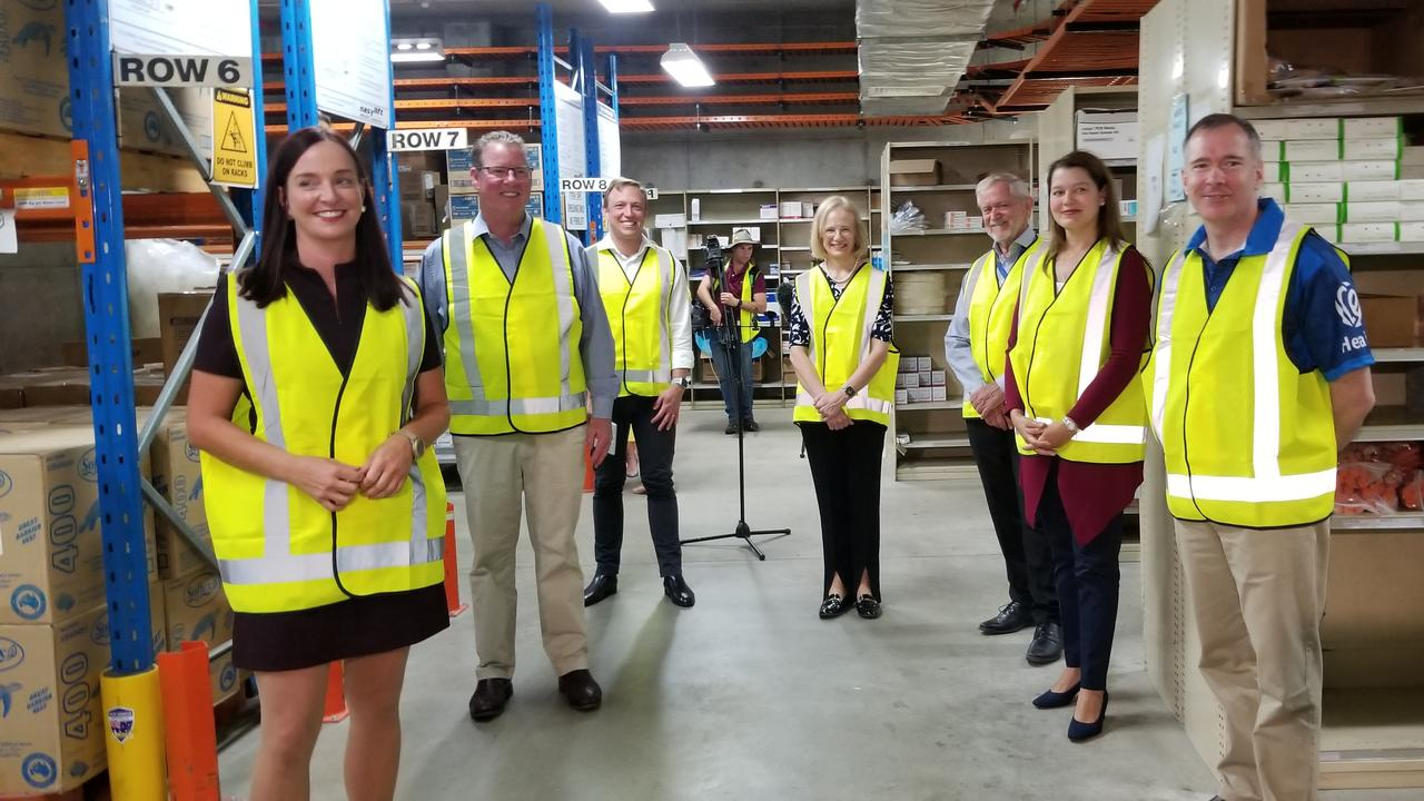 State Labor and CQHHS members this morning announced the building of a new Rockhampton PPE warehouse.