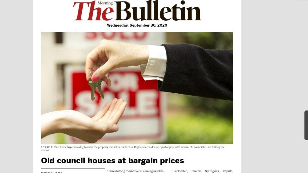 Morning Bulletin digital edition September 30