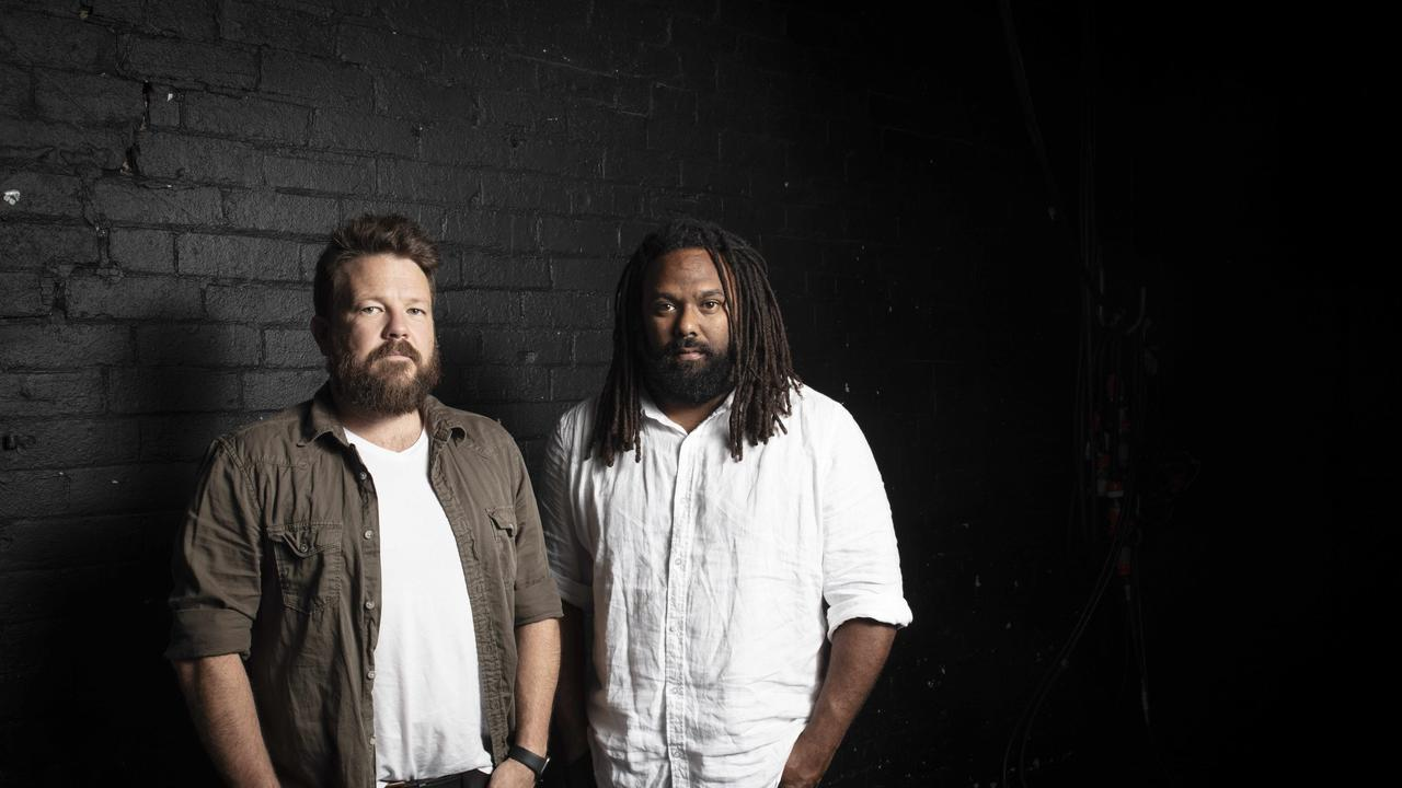 Singer-songwriter duo Busby Marou, aka Thomas Busby and Jeremy Marou. Photo: Russell Shakespeare 2019