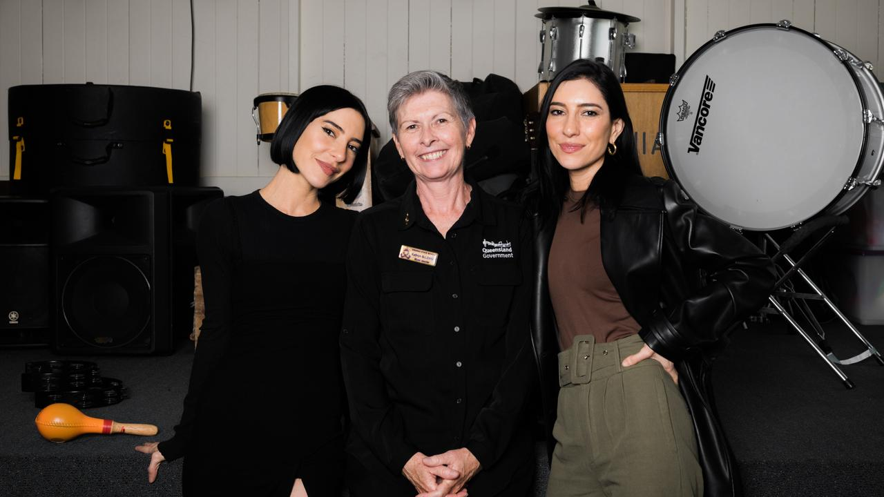 The Veronicas with Kathryn McLennan, who has also been nominated.