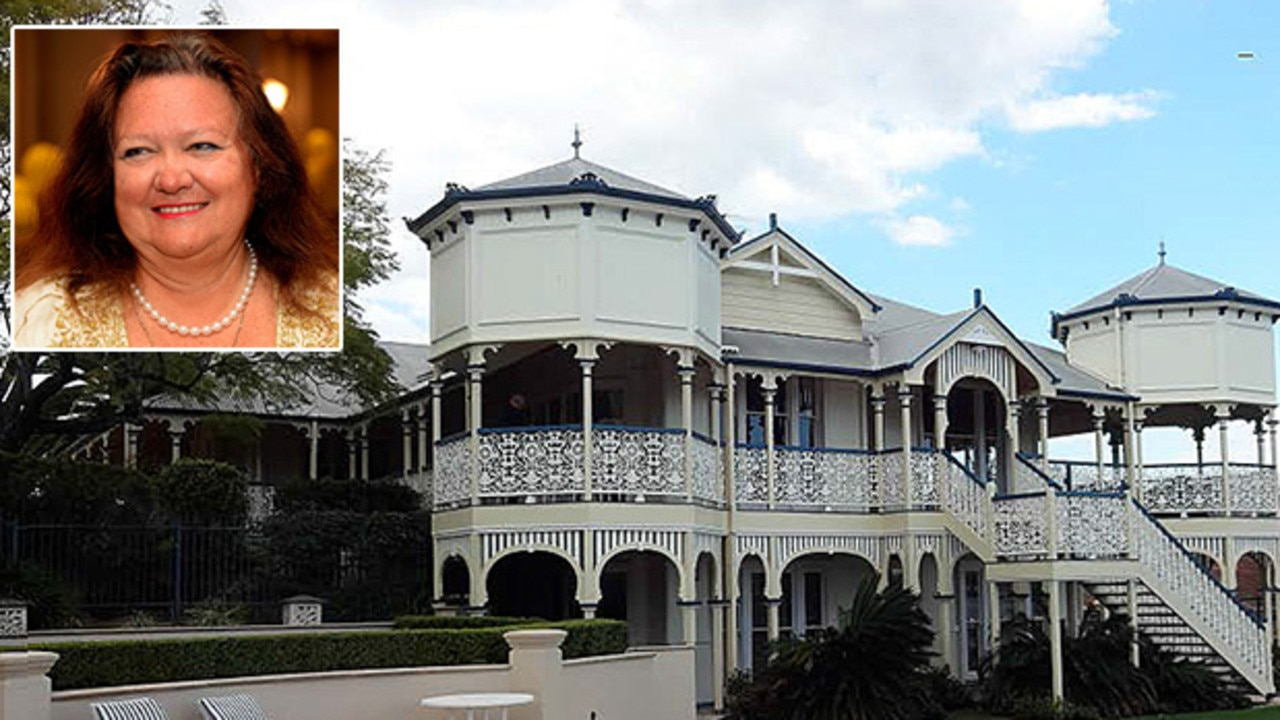 Australia's richest person, Gina Rinehart, has been given permission to make her palatial $14 million Queenslander even bigger than it already is.