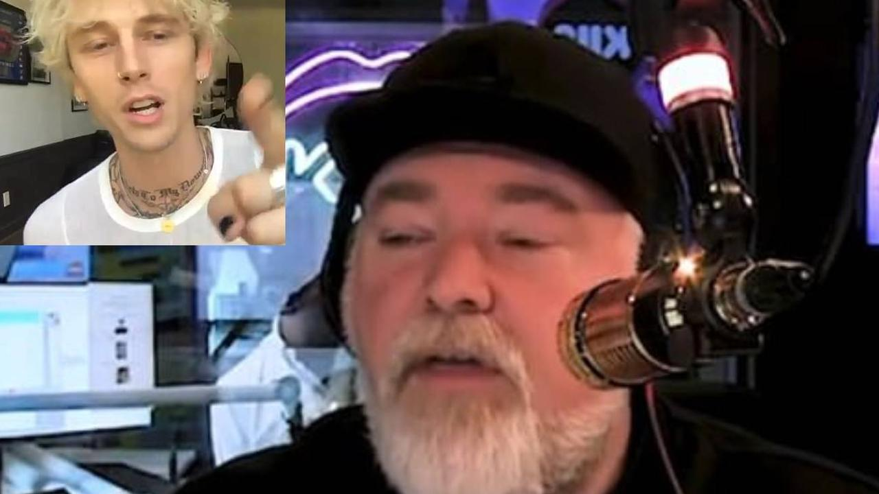 Kyle Sandilands accidentally offended rapper Machinegun Kelly during his on-air introduction, leaving a long, awkward silence.