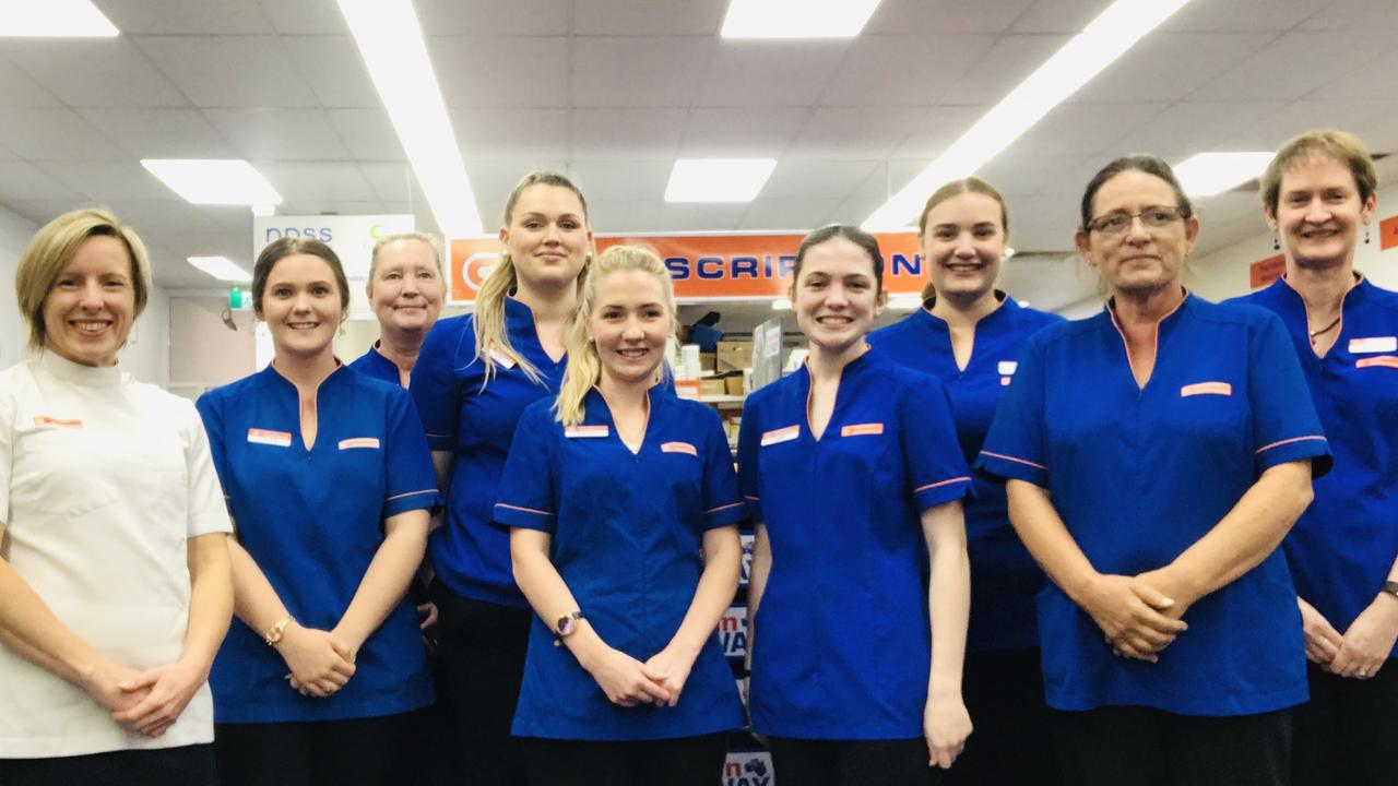 The team at Good Price Pharmacy on Mary Street, led by manager Kerry Gill.