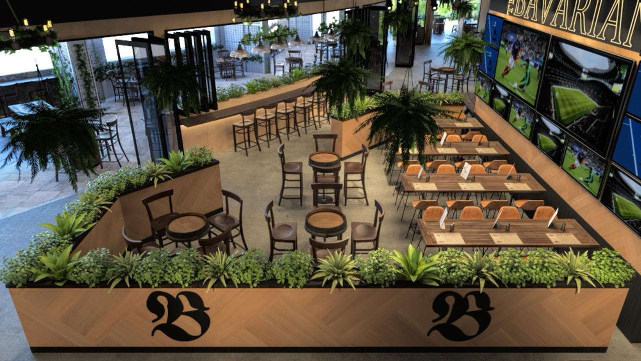 3D renders of The Bavarian, Rockhampton, planned to open in October 2020.