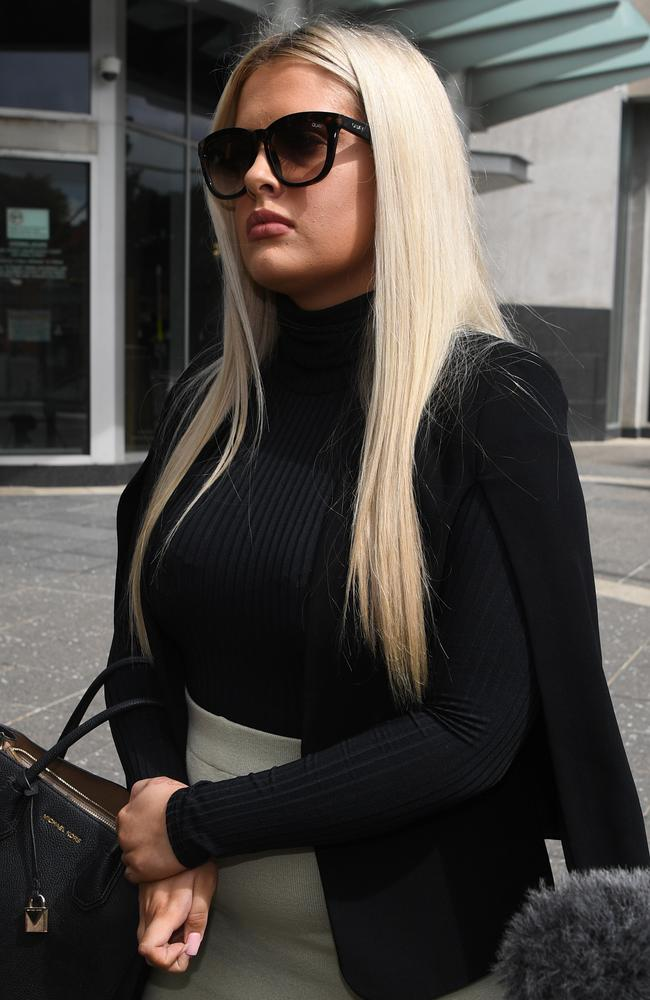 McKenzie Lorraine Robinson leaves the Magistrates Court in Brisbane. Picture: Dan Peled/NewsWire
