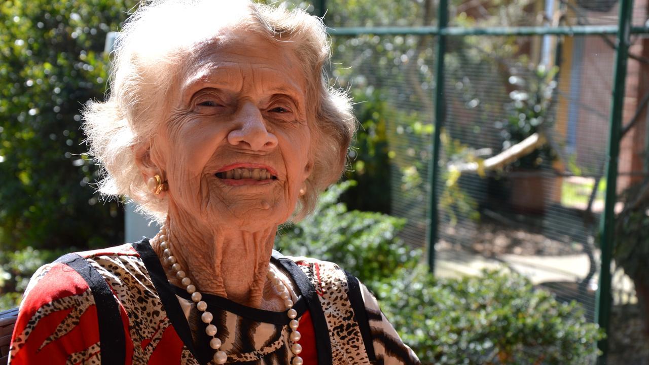Winifred Jefferies celebrates her 101st birthday on Saturday, August 24. Photo Georja Ryan / Daily Examiner