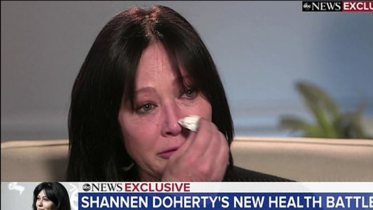 Shannen Doherty revealed her cancer had returned earlier this year. Picture: ABC News