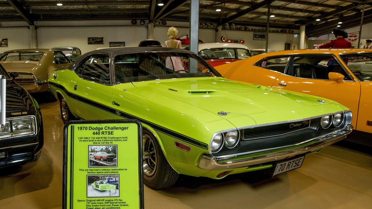 A 1970 Dodge Challenger inside Gold Coast Motor Museum. Picture: Jerad Williams
