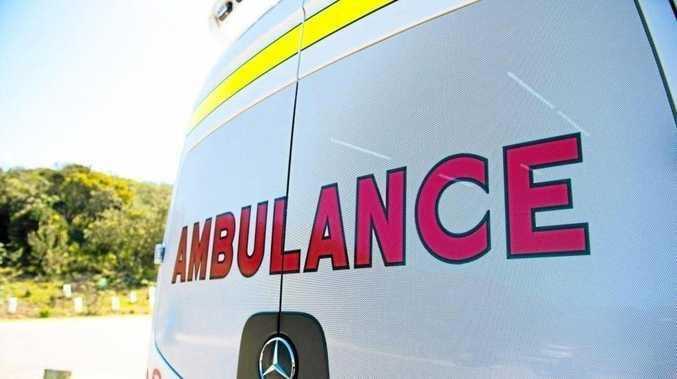 Rider suffers serious leg injuries in crash
