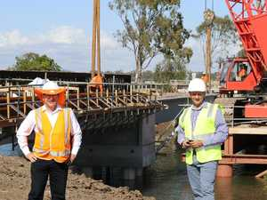 Serious works underway for the new Gavial Creek bridge