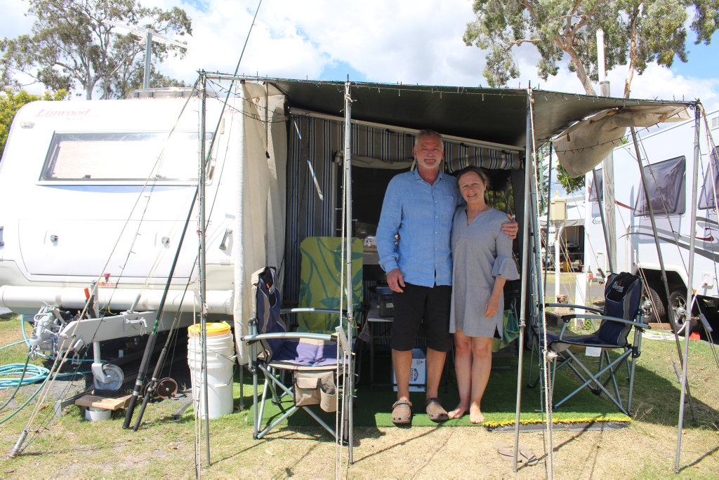 Image for sale: Vikky and Peter Kerr have been staying on site nine for the past 17 years.