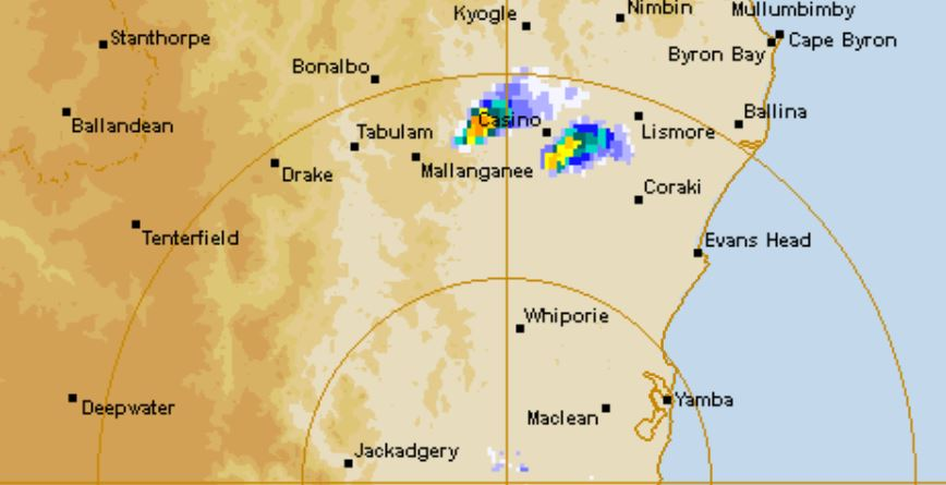 Storms have cropped up in some parts of the Northern Rivers.
