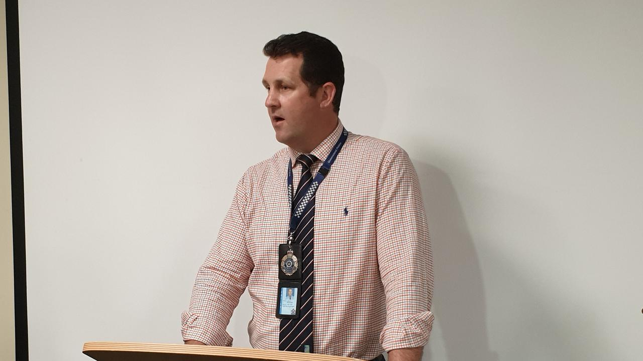 Detective Senior Sergeant Luke Peachey appeals for public assistance earlier this month in relation to the stolen firearms.