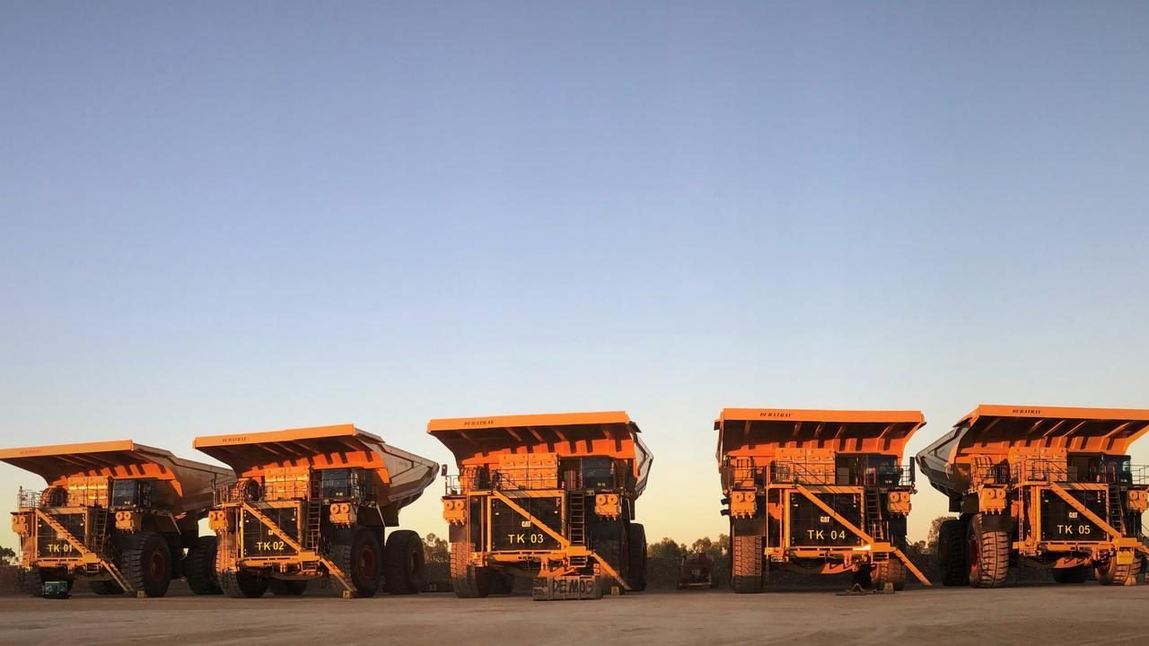 ROLLING ON: Adani Australia has shown off some their heavy machinery.