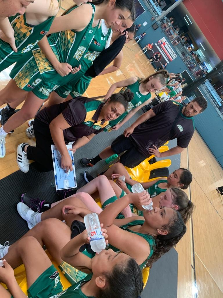 The Ipswich Force under-14 team coached by Charlene Notoa that won this year's BQJBC gold medal game.