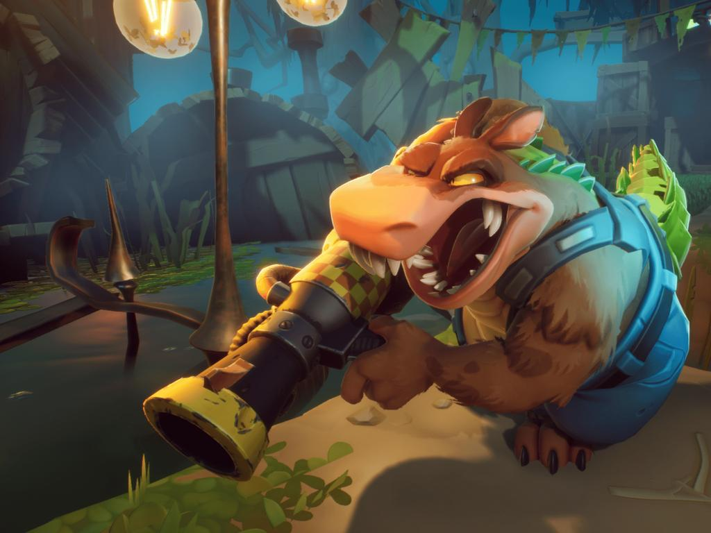 One level lets you play as Dingodile.