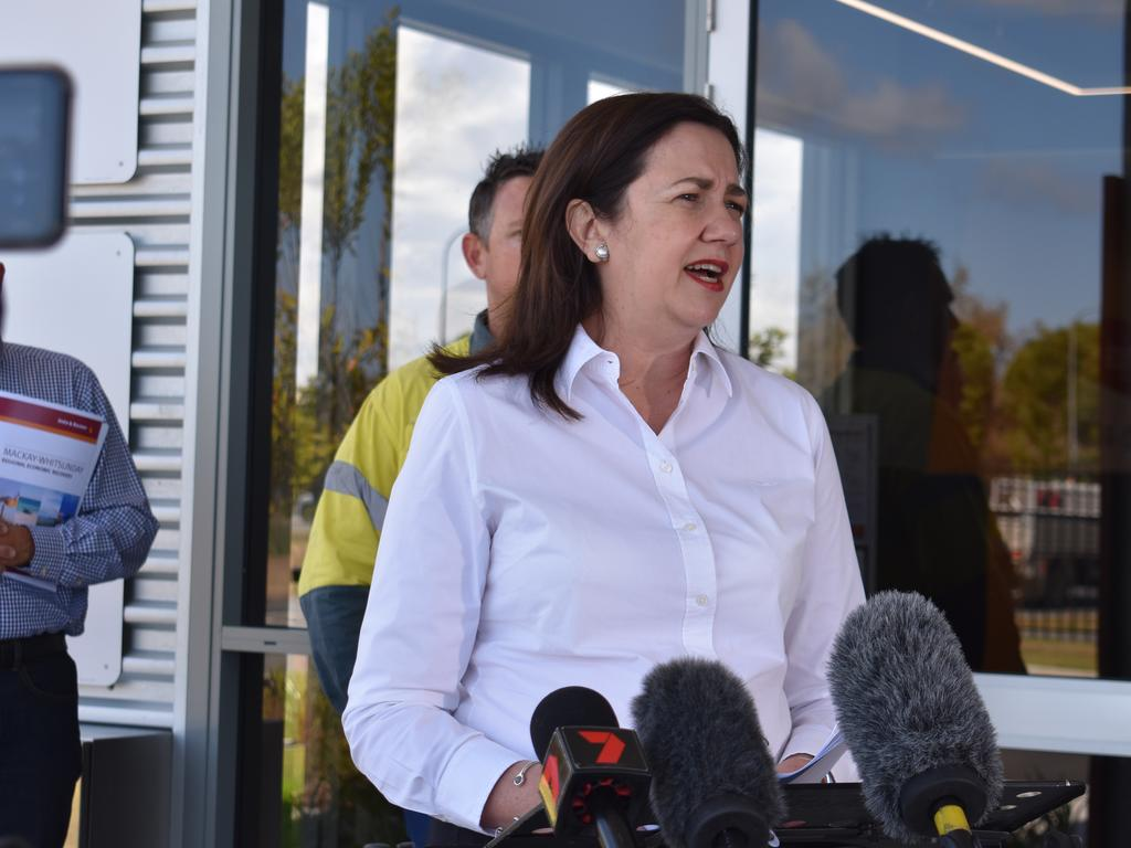 Premier Annastacia Palaszczuk says a technical glitch with border passes is being rectified, but NSW residents can show ID at the border to gain access to Queensland. Picture: NCA NewsWire