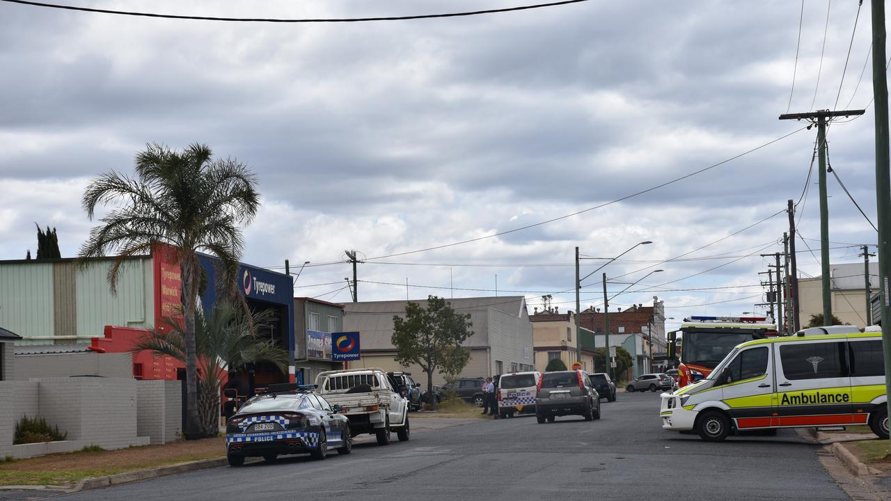 ON SCENE: Emergency crews on scene at Oak Ave. Picture: Jessica Paul