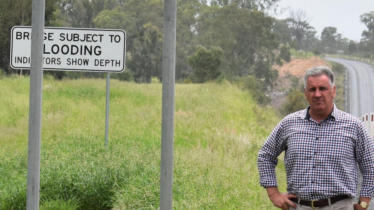 Burdekin MP Dale Last at the Phillips Creek Bridge. Picture: supplied