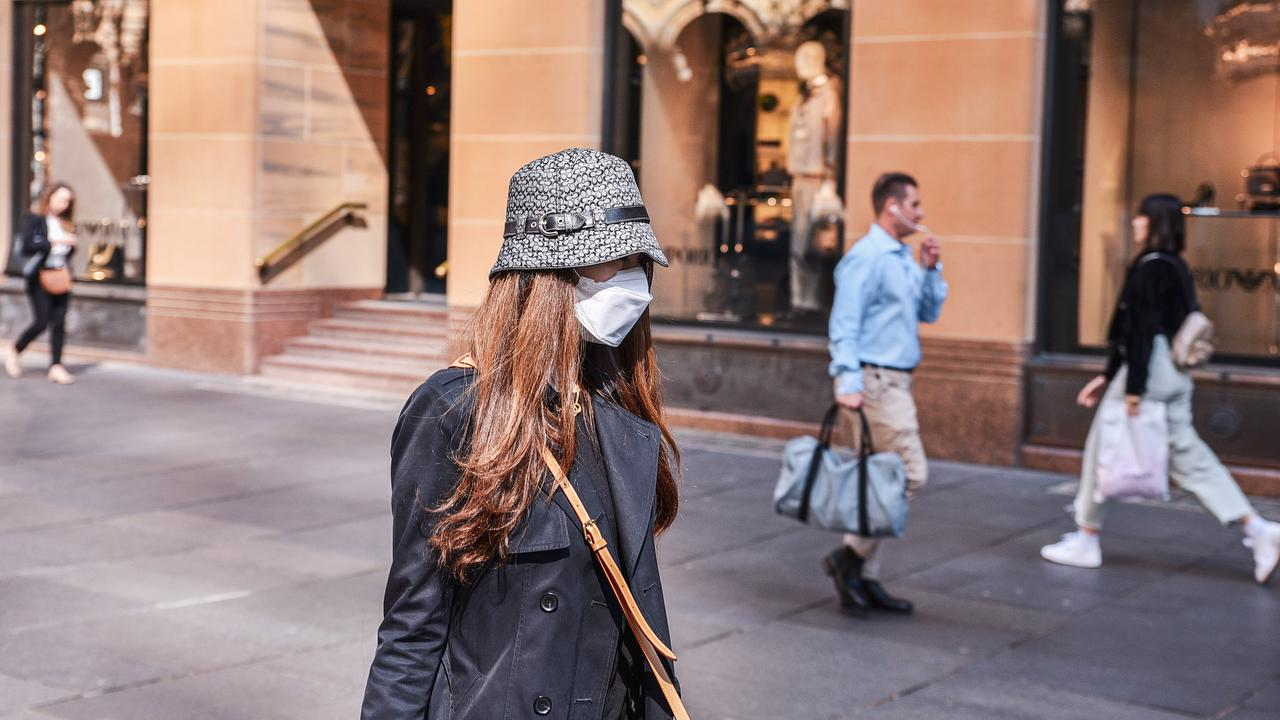 Christmas shoppers may have to wear masks. Picture: Flavio Brancaleone/NCA NewsWire