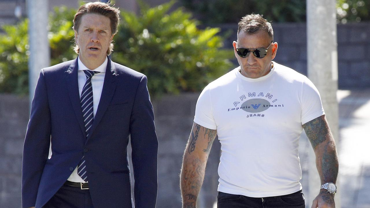 Shane Bowden arrives at court in Southport. Picture: Tertius Pickard.