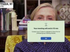 Hillary mocked for Zoom interview fail