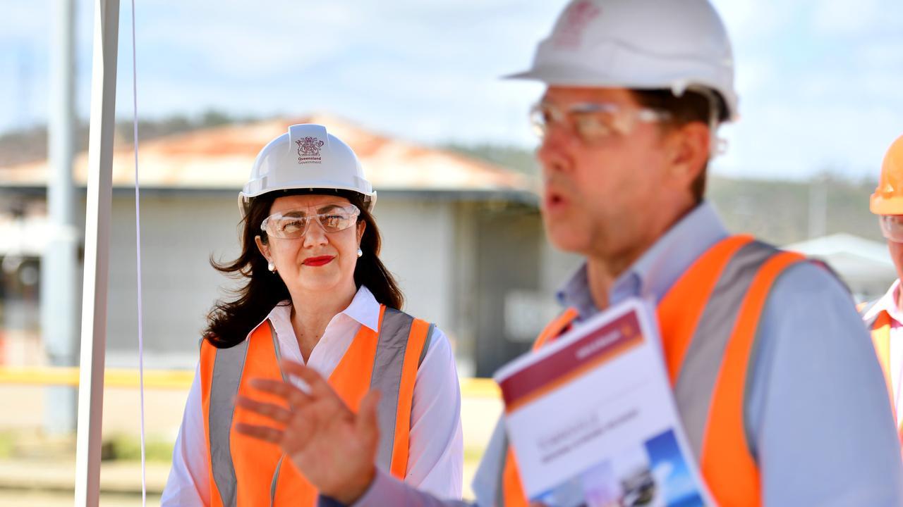 Queensland Annastacia Palaszczuk with Treasurer Cameron Dick. Picture: Alix Sweeney