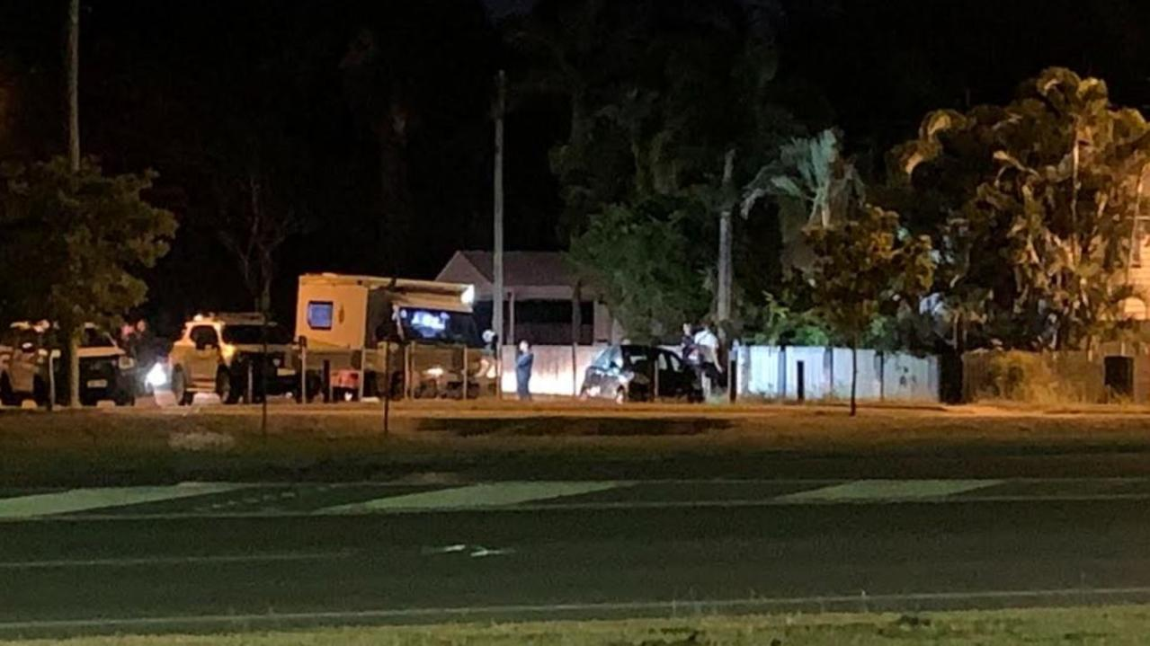 The scene of the reported stabbing in West Mackay this evening. Picture: Tara Miko