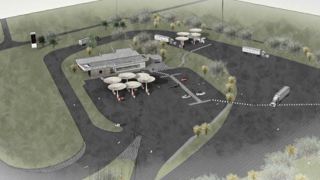 NO GO: Early artist impressions for a proposed service station on Childers Rd. The Bundaberg Regional Council refused the application at the recent ordinary meeting. Source: Initial application proposal.