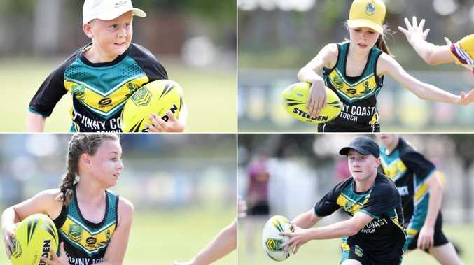 Footy fun: Young pineapples captured at championships