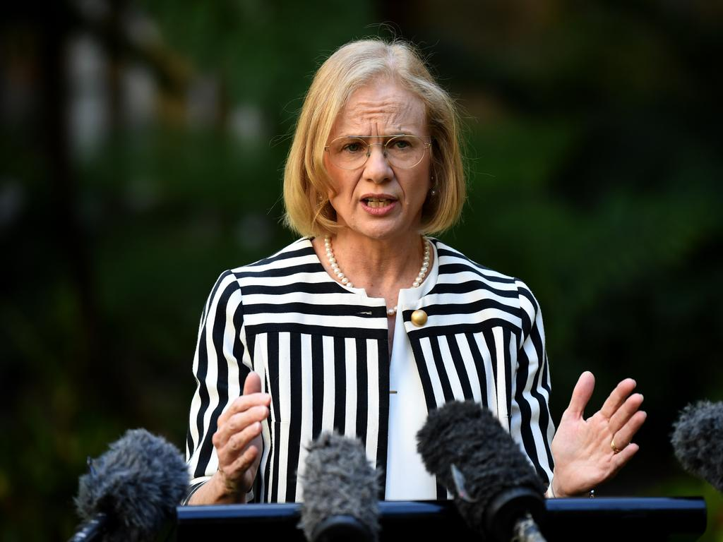 Chief Health Officer Dr Jeanette Young says Queenslanders should not worry about going back into lockdown. Picture: Dan Peled/NCA NewsWire