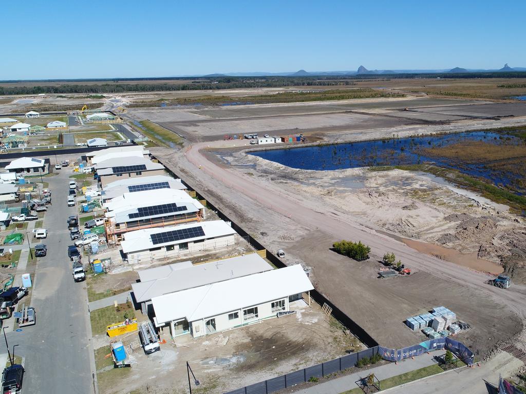 Aerial photos of new development near Nirimba, south west of Aura, Caloundra. Photo Patrick Woods / Sunshine Coast Daily.