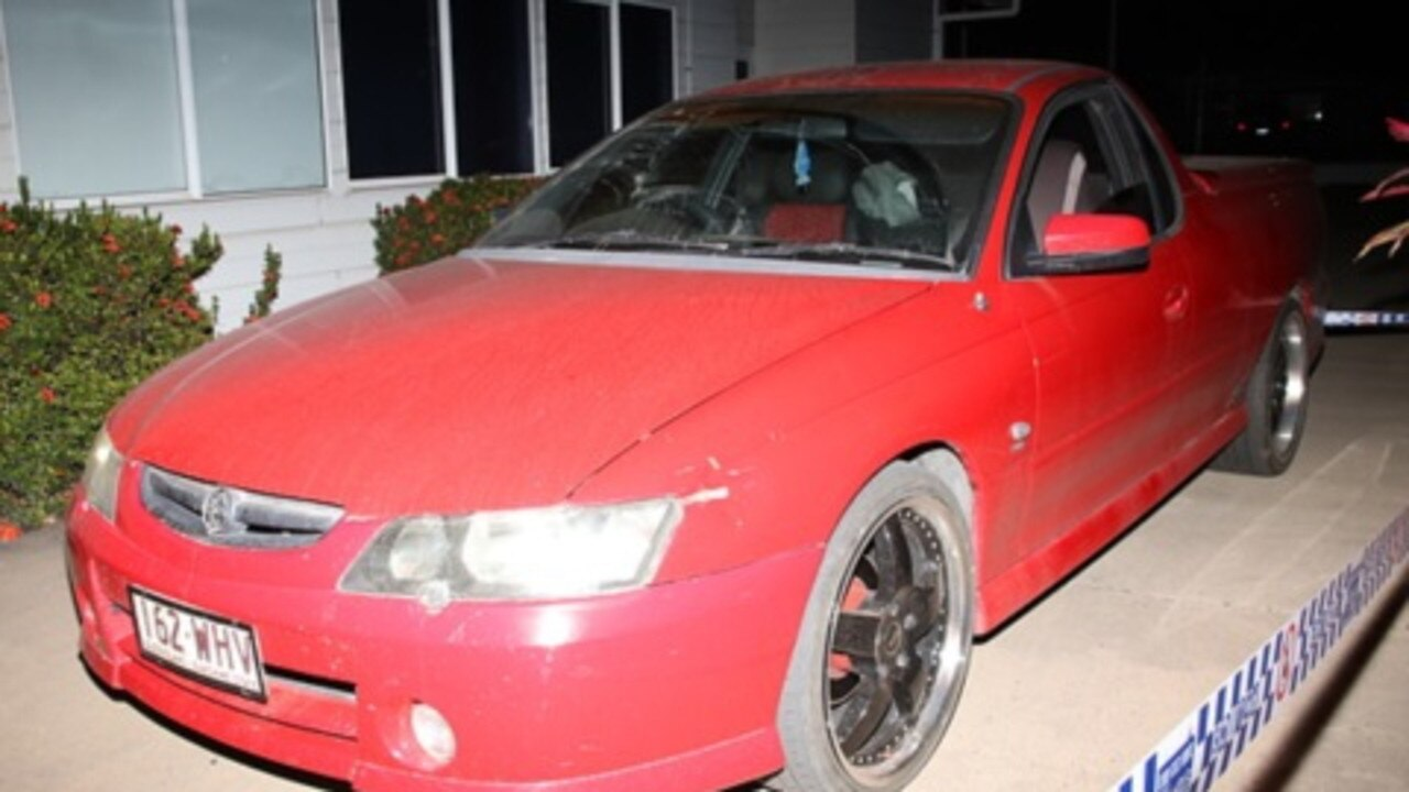 Police are searching for a man who was driving this 2003 red Holden Commodore ute with Queensland registration 162 WHV in Moranbah on Wednesday night where another man, 47, was seriously assaulted.
